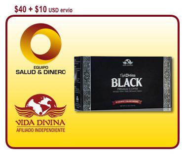 Café Black - Café negro reforzado con el hongo ganoderma - Vida Divina