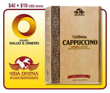 Café Cappuccino - Bebida instantanea sabor cappuccino - Vida Divina