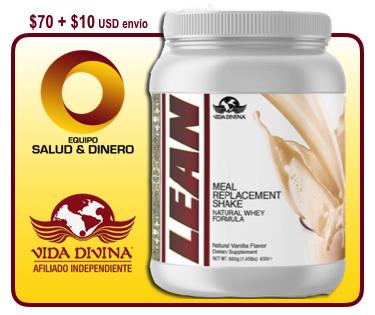 Lean - Suplemento de reemplazo de alimentos de proteína - Salud y Bienestar - Vida Divina