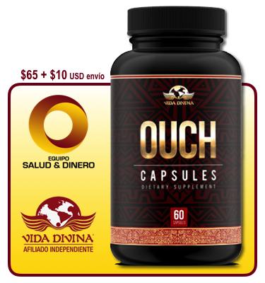 Ouch - Suplemento para aliviar dolor con hongo ganoderma - Vida Divina