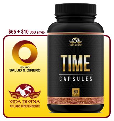 Time - Suplemento para salud y bienestar con hongo ganoderma - Vida Divina