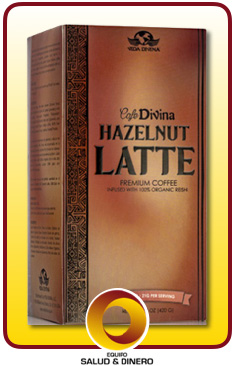 Hazelnut Latte ( avellana ) - Café Divina - Bebida con hongo ganoderma sabor avellana- Vida Divina