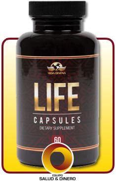 Life - Suplemento para salud y bienestar con hongo ganoderma - Vida Divina