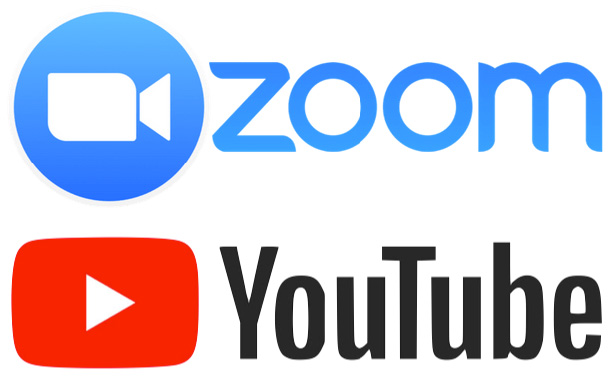 Zoom y YouTube - plataformas de video para las capacitaciones de Vida Divina