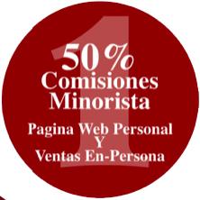 Plan 50 - 50 - 50 - Paso 1, 50% de comisión minorista por la venta directa de los productos de Vida Divina