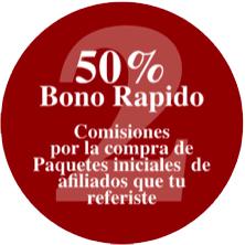 Plan 50-50-50 - Paso 2, 50% de bono rápido por la venta de un Paquete Inicial de creador de negocio Vida Divina
