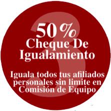 Plan 50-50-50 - Paso 3, 50% del cheque de igualamiento, del bono binario de tus afiliados directos de Vida Divina