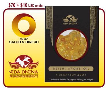 Reishi Spore Oil - Aceite concentrado natural del hongo Ganoderma - Vida Divina