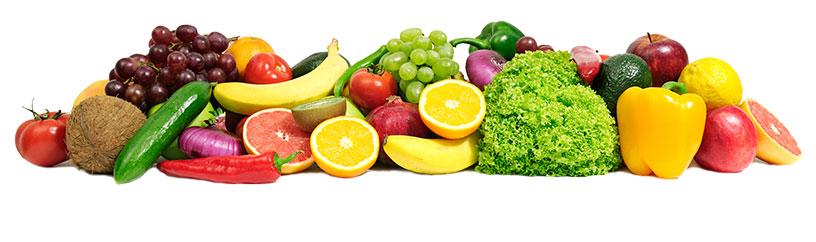 Banner de frutas y verduras