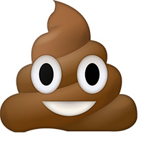 Poop emoji - emoji de popó caca